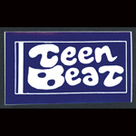 Teen-Beat adhesive sticker blue