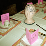 Teen-Beat 18th Anniversary menus and centerpieces heads