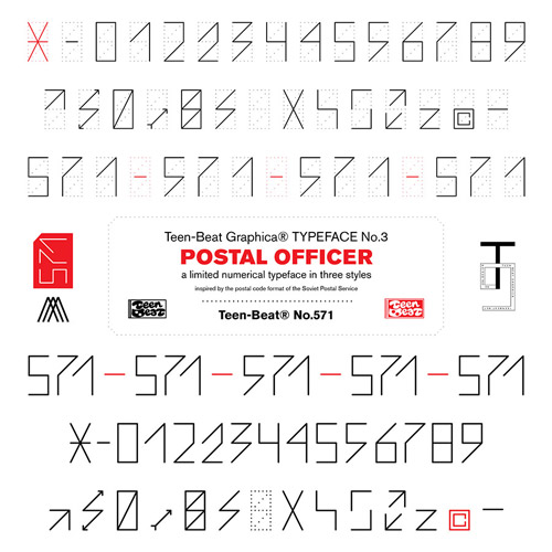 Postal Officer type specimen